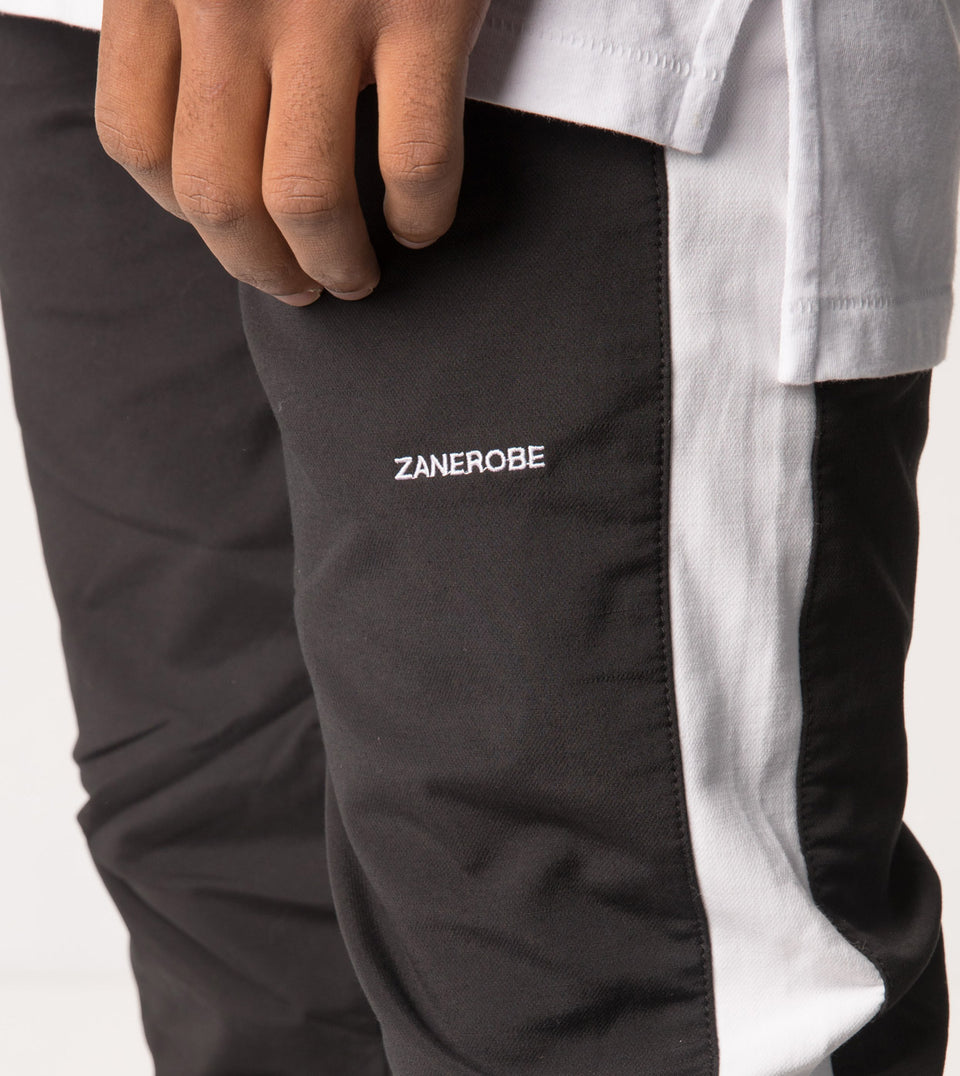 Jumpshot Track Pant Black/White - Sale