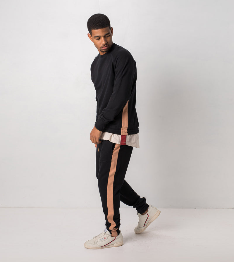 Jumpshot Trackpant Black/Biscuit