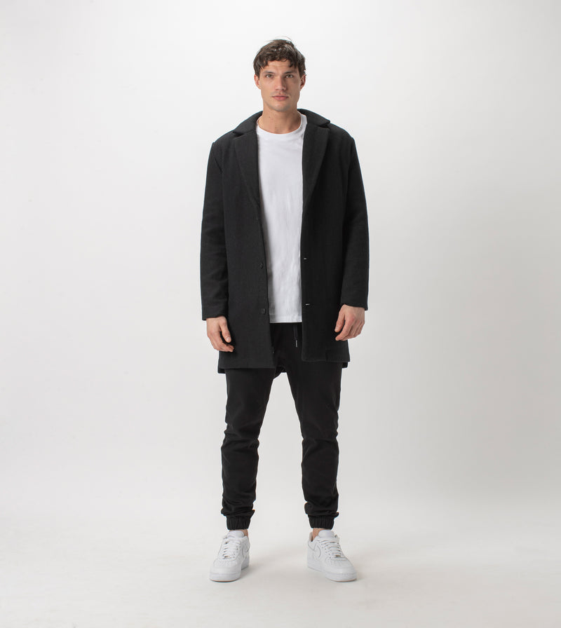 Kyoto Melton Jacket Black