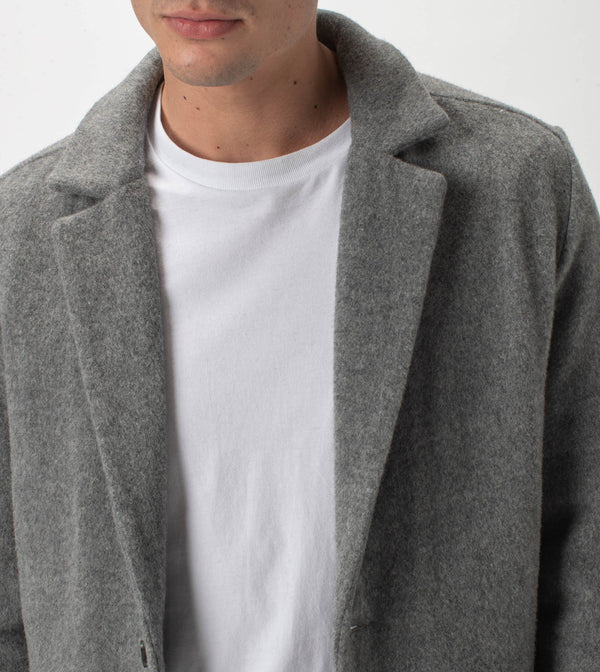Kyoto Melton Jacket Grey Marle