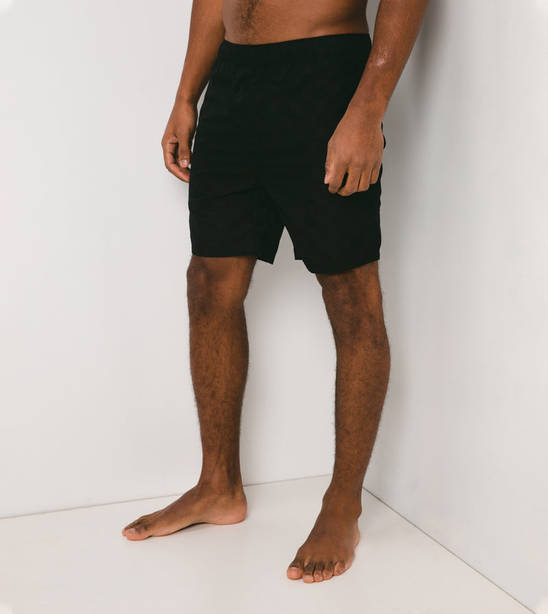 Checkerboard Laguna Short Black