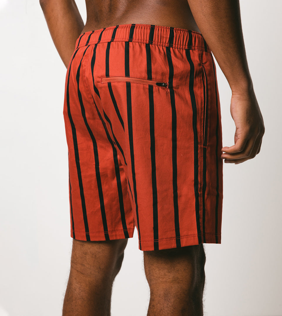 Pinstripe Laguna Short Clay/Vintage Black - Sale