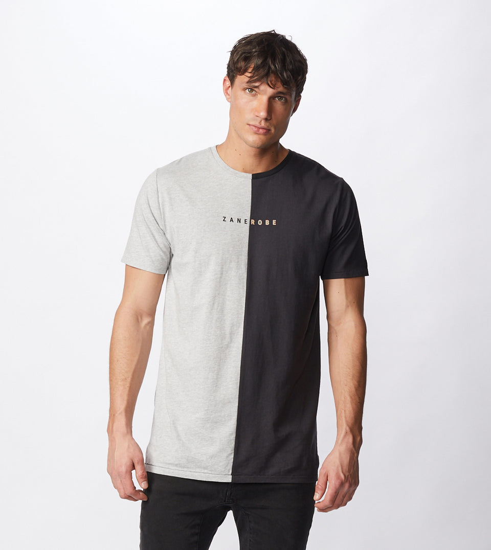 Logo-Splice Flintlock Tee Sliver Marle/Smokey Black