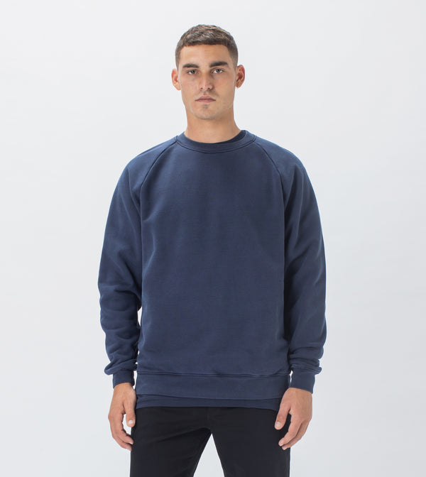 Lowgo Raglan Crew Sweat GD Indigo