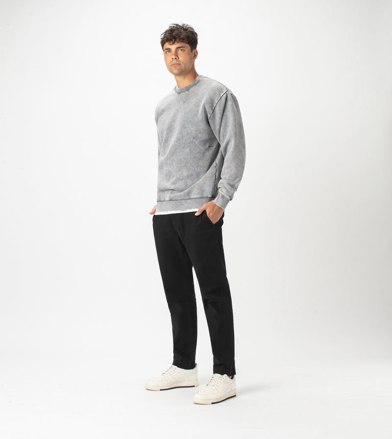 Lowgo Crew Sweat Rock Salt