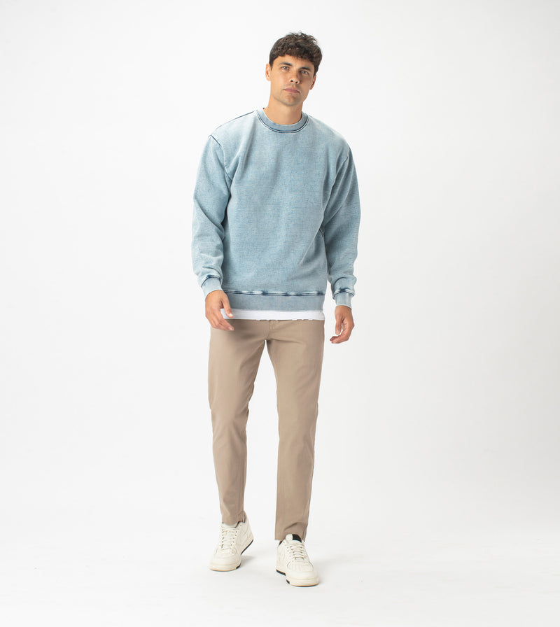 Lowgo Crew Sweat Salt Blue