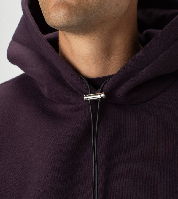 Lowgo Hood Sweat Dk Grape