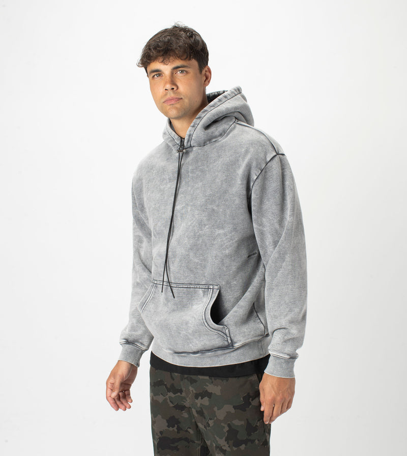 Lowgo Hood Sweat Rock Salt
