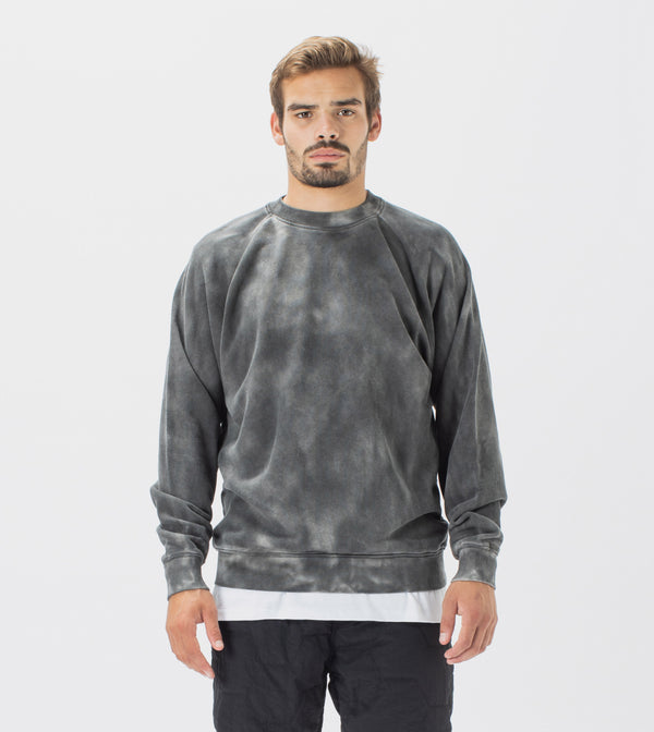 Marble Lowgo Raglan Crew Sweat GD Black