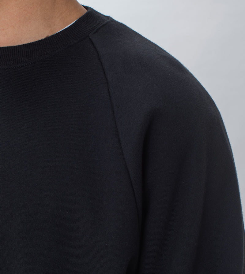 Lowgo Raglan Crew Sweat Black