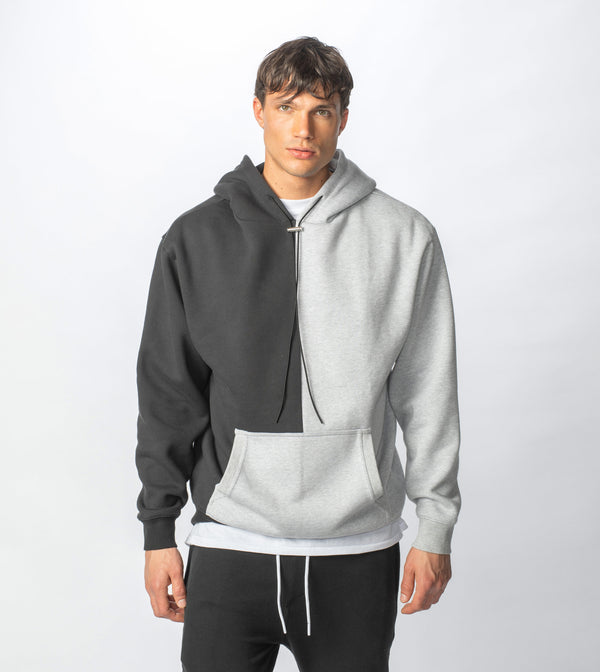 Lowgo Splice Hood Sweat Silver Marle/Black