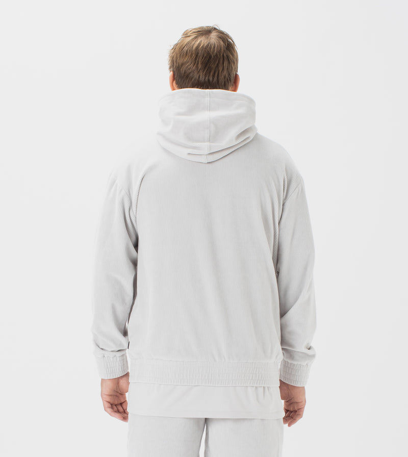 Lowgo Velour Hood Sweat Frost