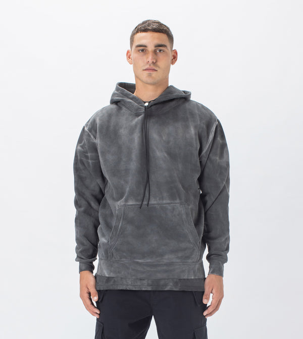 Marble Lowgo Hood Sweat GD Black