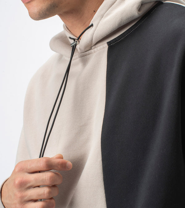Lowgo Overlay Hood Sweat Bread/Black
