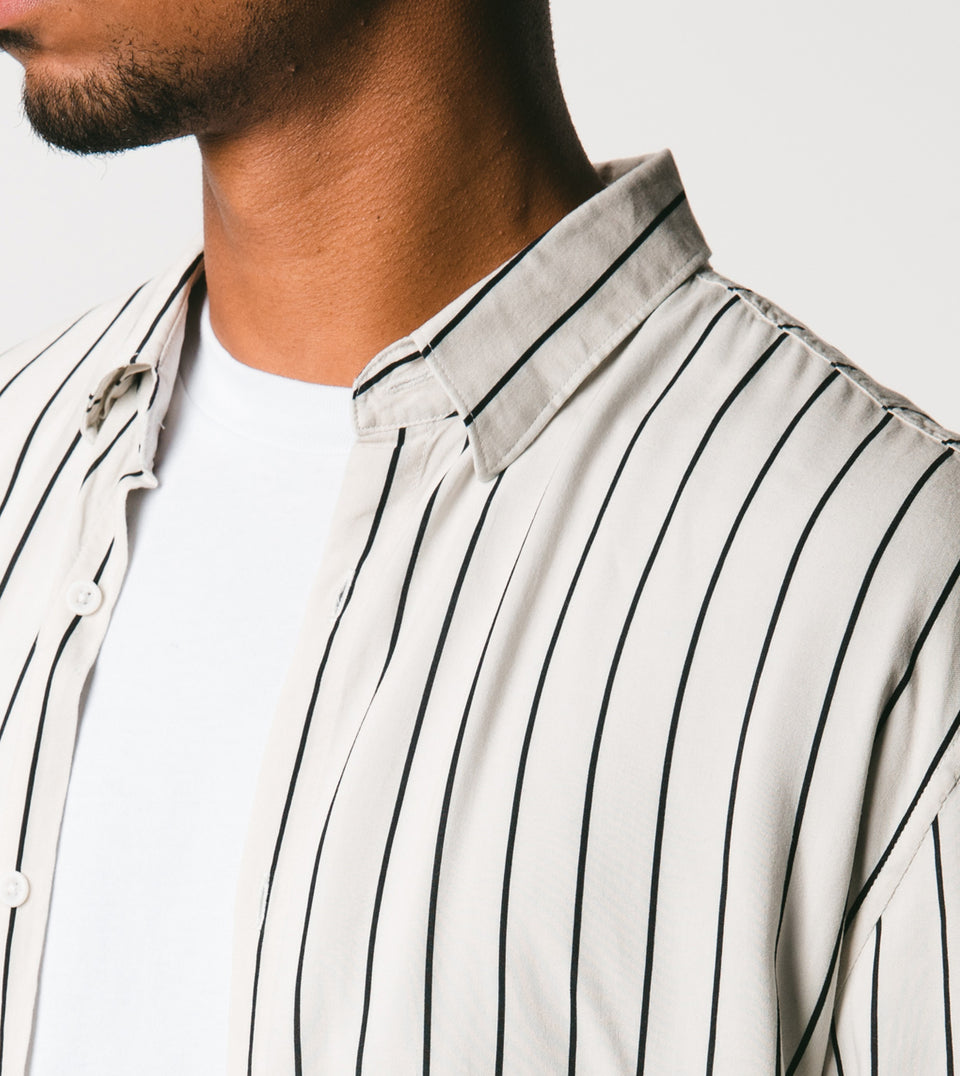 Pinstripe LS Shirt Shell/Black - Sale