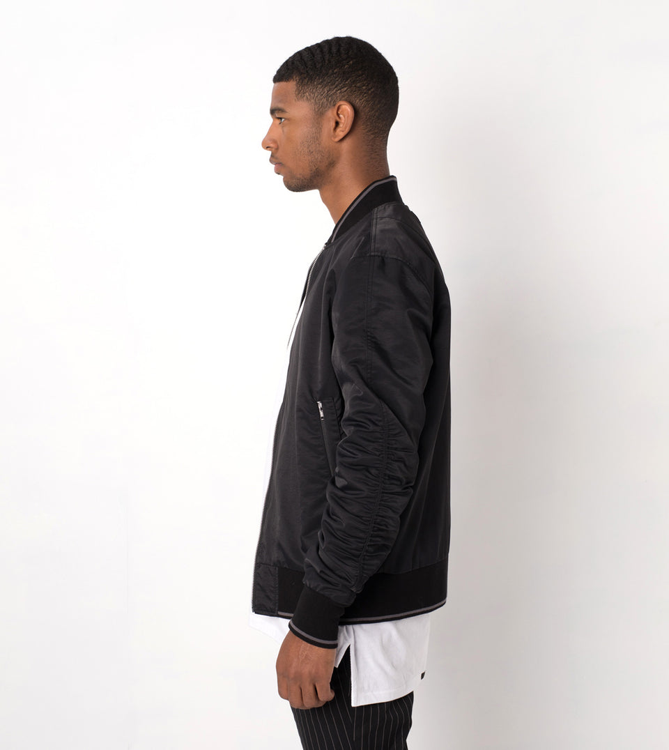Pinstripe Reversible Bomber Black/White - Sale