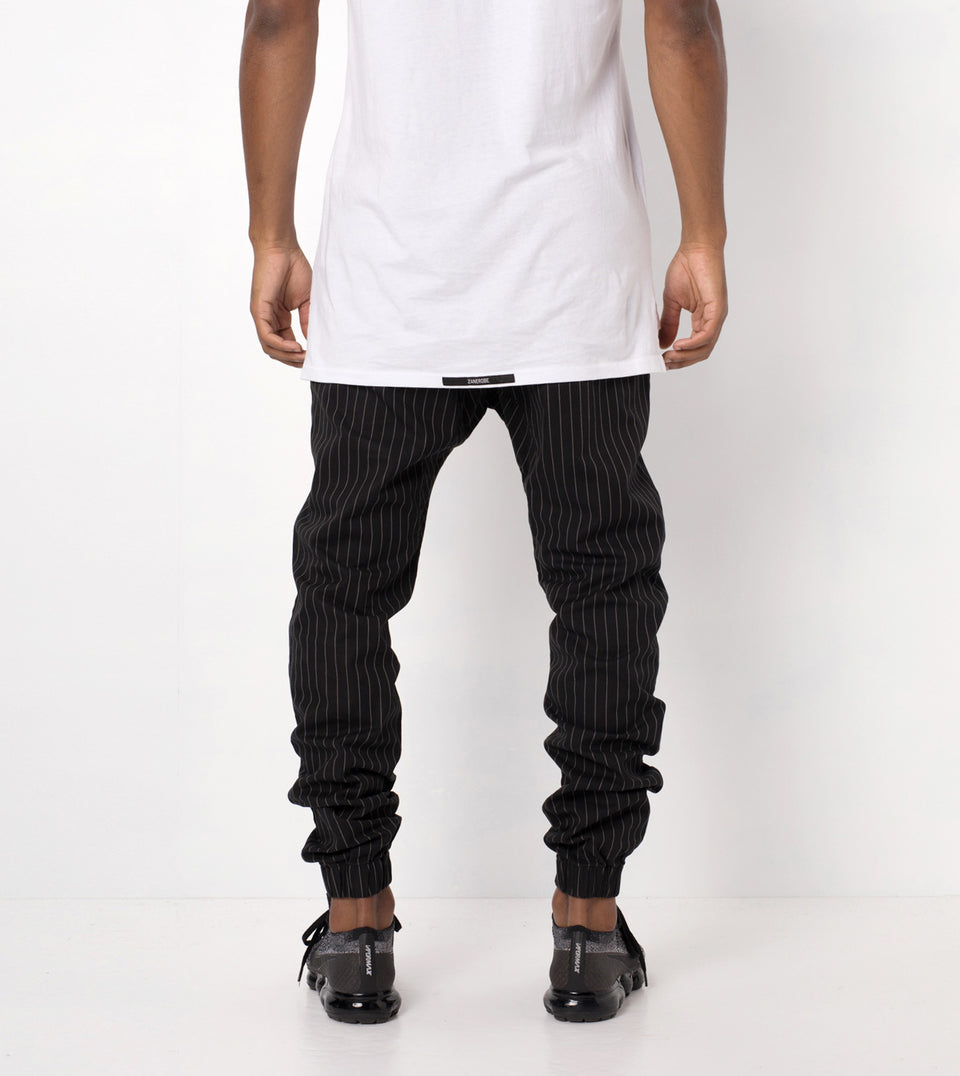 Pinstripe Sureshot Jogger Black/White