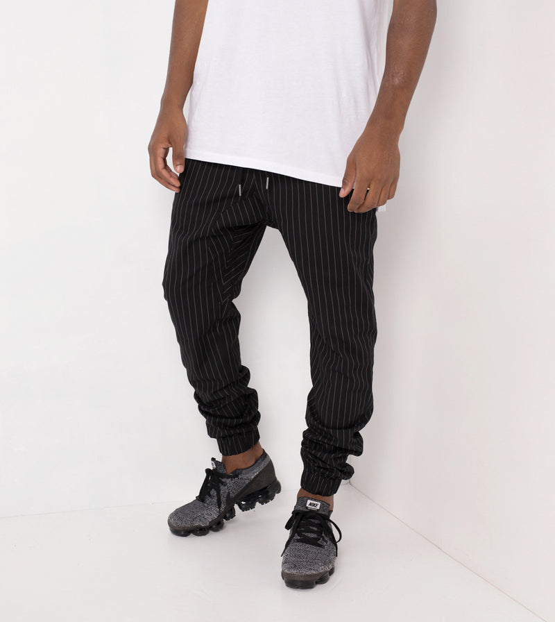 Pinstripe Sureshot Jogger Black/White - Sale
