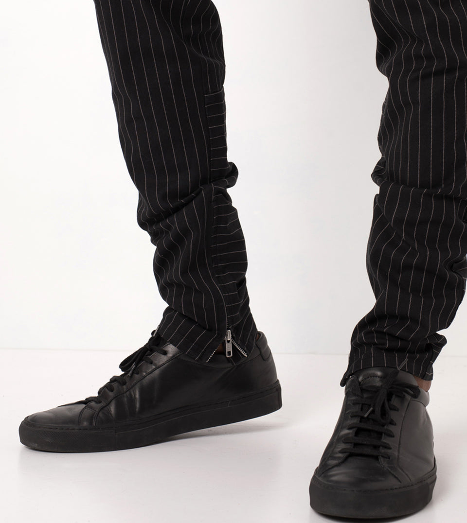 Pinstripe Unblockshot Chino Black/White