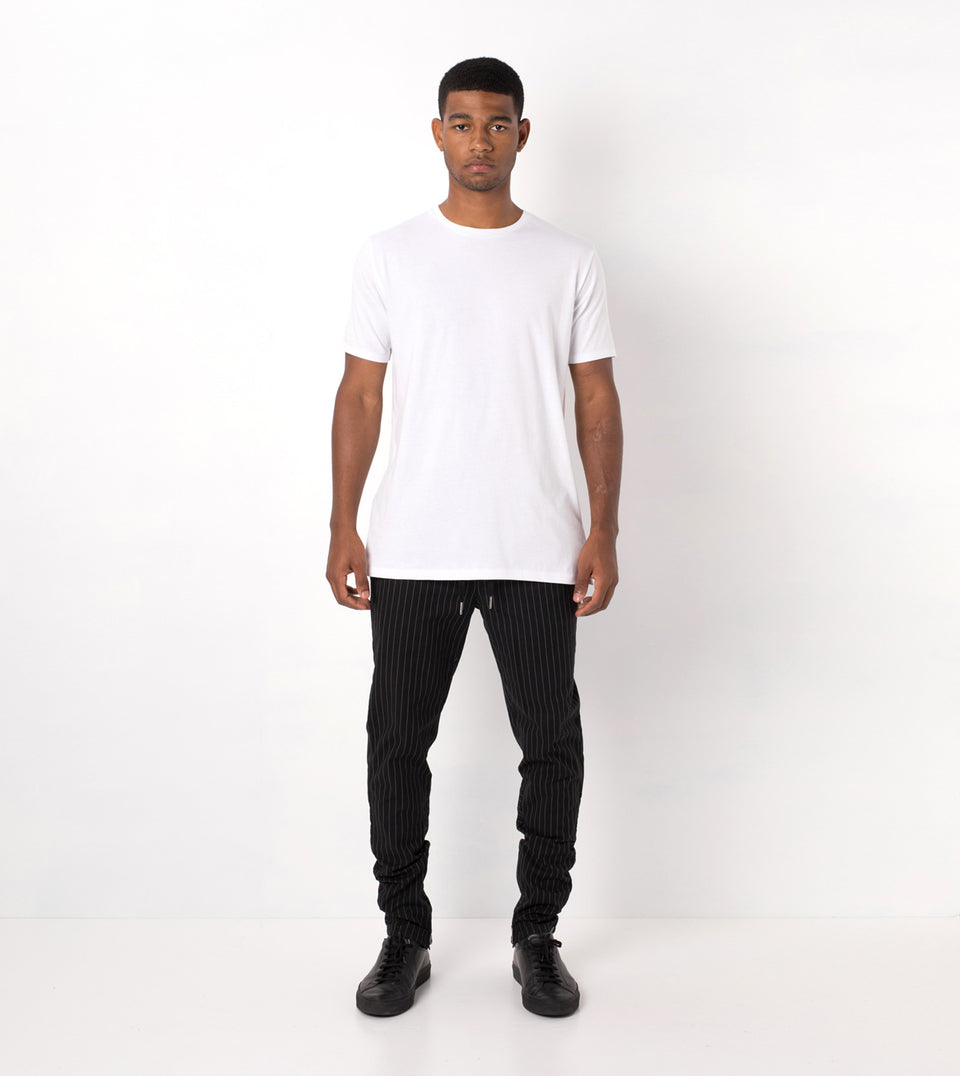 Pinstripe Unblockshot Chino Black/White - Sale
