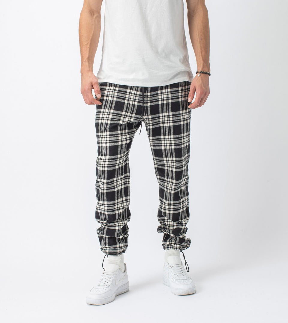 Plaid Jumpa Jogger Black/Milk