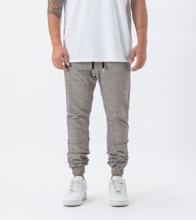 Plaid Sureshot Jogger Milk/Red