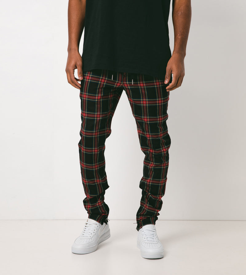Plaid Unblockshot Chino Navy/Red - Sale