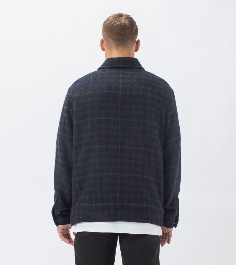 Plaid Work Jacket Forest/Ink
