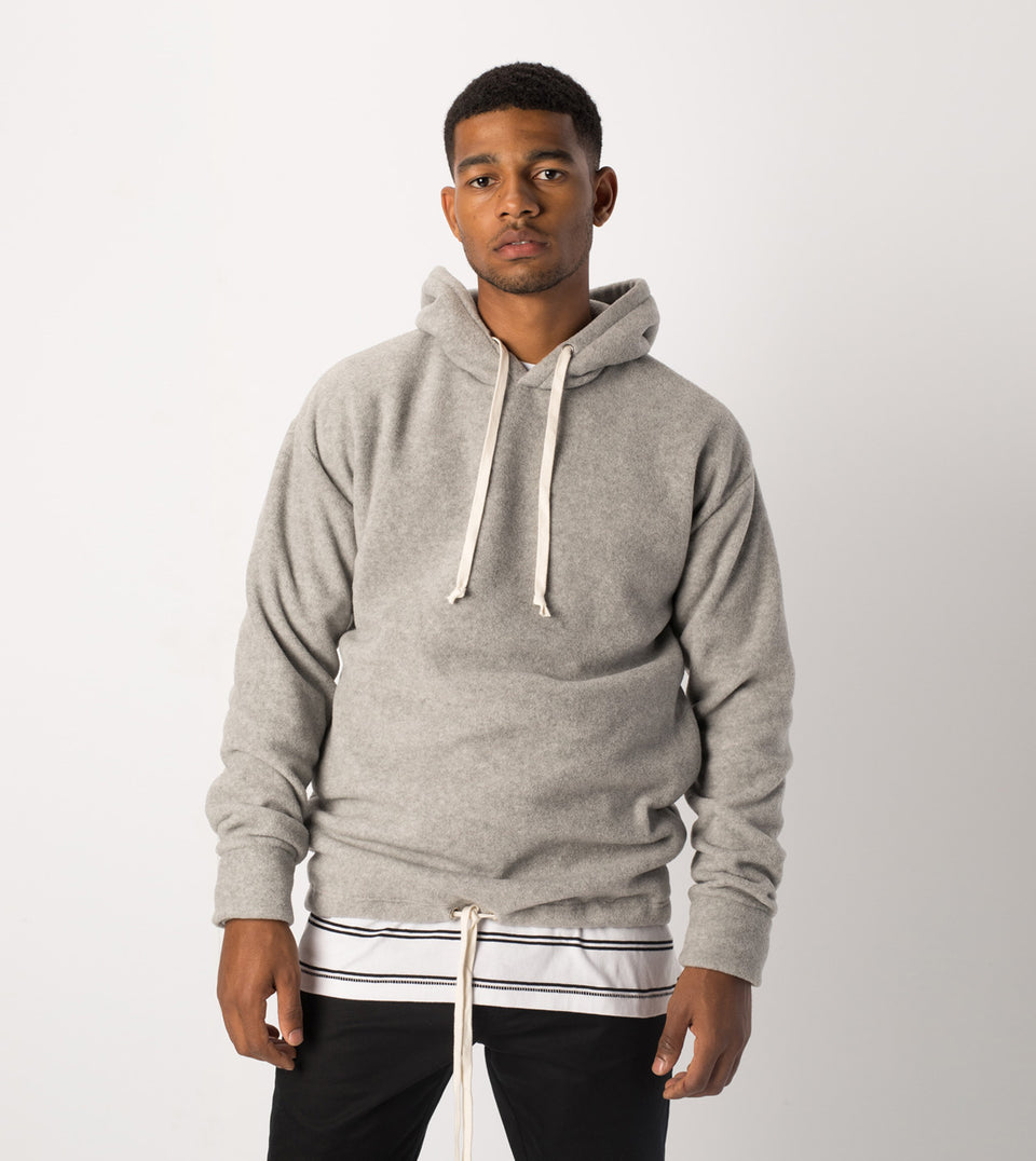 Polar Rugger Hood Sweat Grey Marle