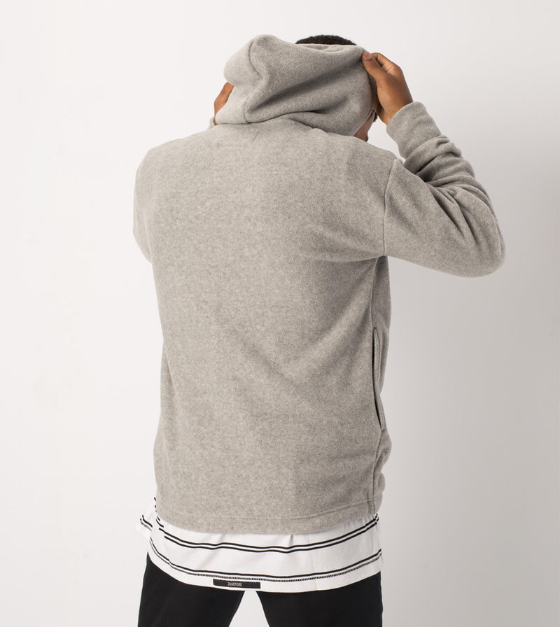 Polar Rugger Hood Sweat Grey Marle - Sale