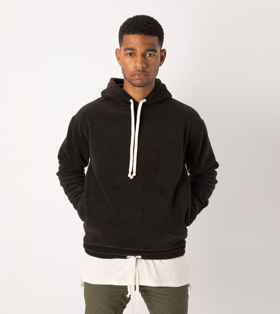 Polar Rugger Hood Sweat Black - Sale
