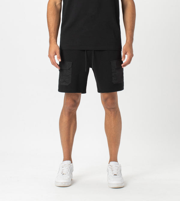 Quilt Day Short Black