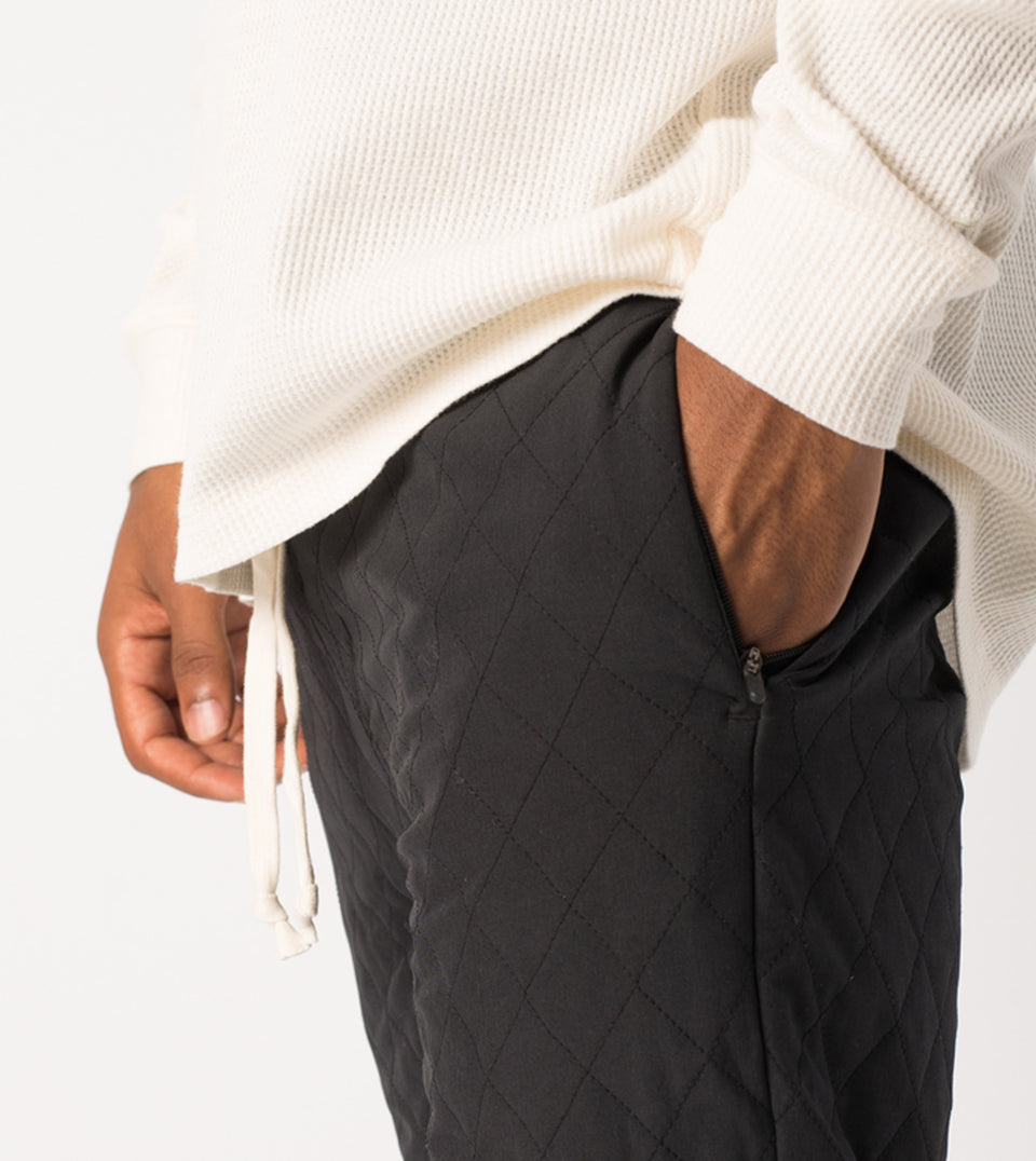 Quilt Flight Pant Black