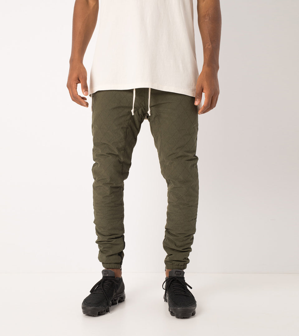 Quilt Flight Pant Military - Sale