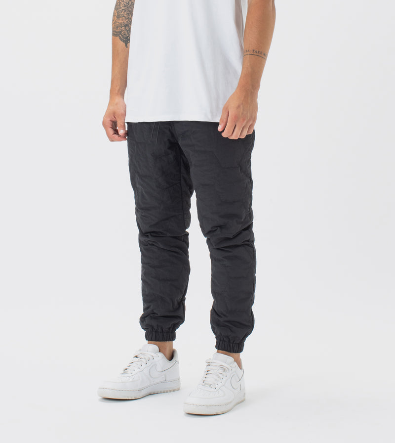Quilted Jumpa Jogger Black