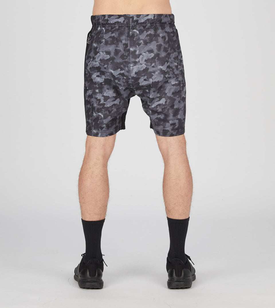 "Type 2 Tech Short (17"") Black Camo"