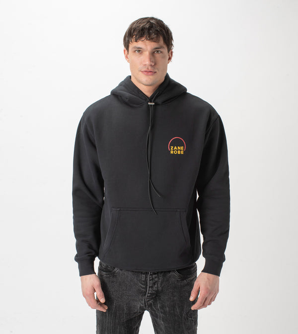 Rising Lowgo Hood Sweat Black