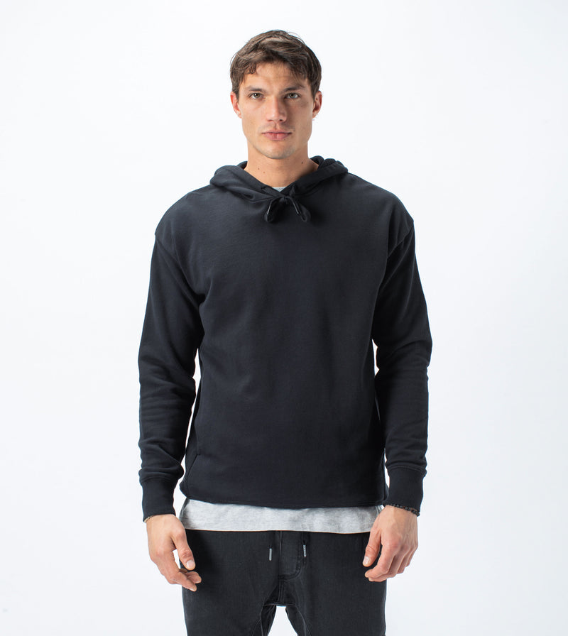 Rugger Hood Sweat Black - Sale