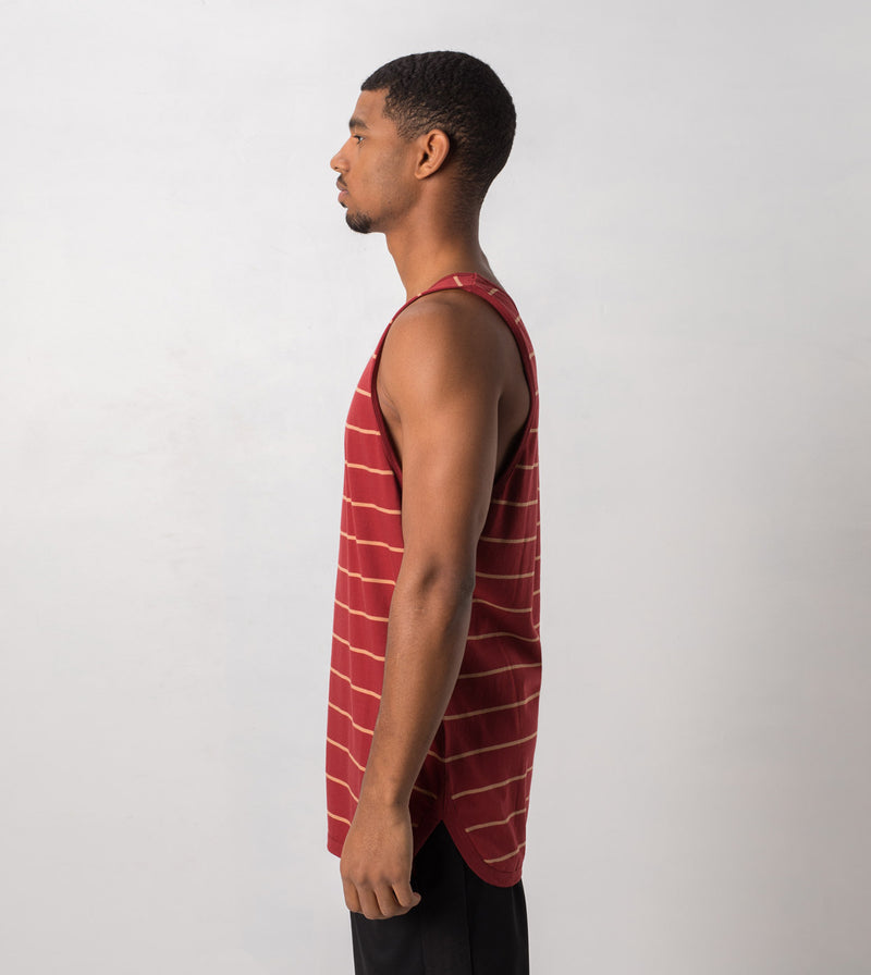 Rugger Tank Dk Cherry/Biscuit - Sale