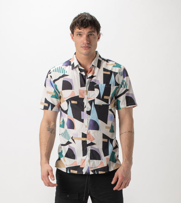 Shapeshifter SS Shirt Milk/Teal