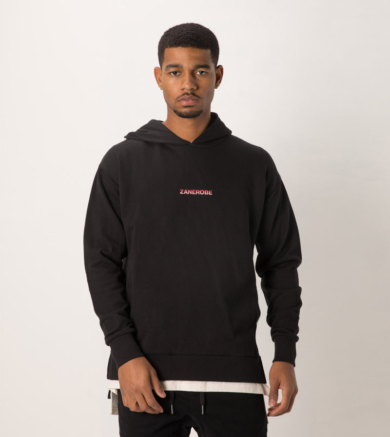 Season Rugger Hood Sweat Black