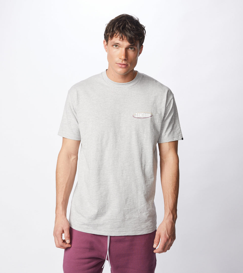 Services Box Tee Silver Marle - Sale