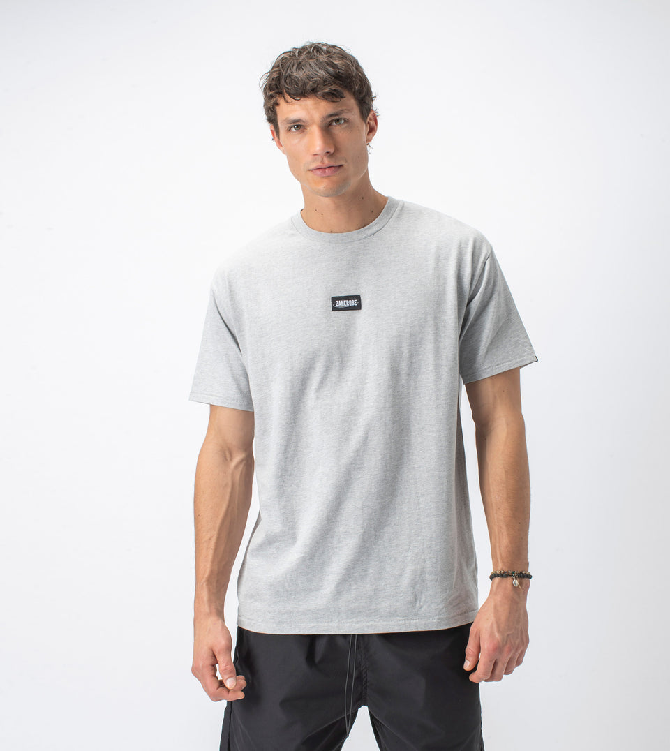 Services Box Tee Silver Marle