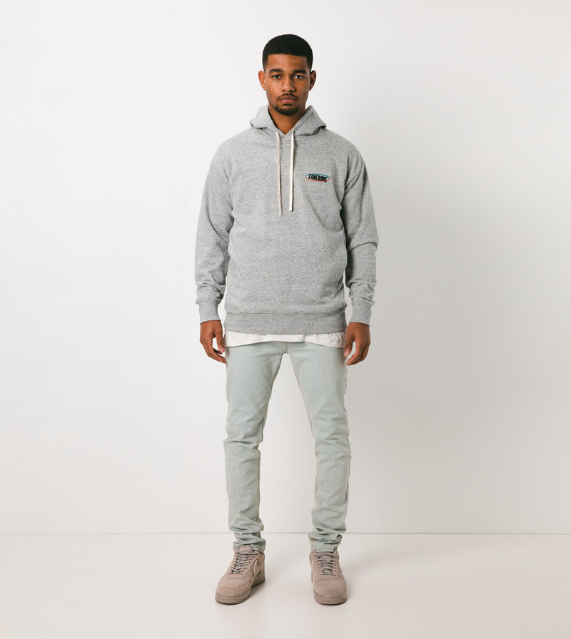 Services Rugger Hood Sweat Grey Marle - Sale