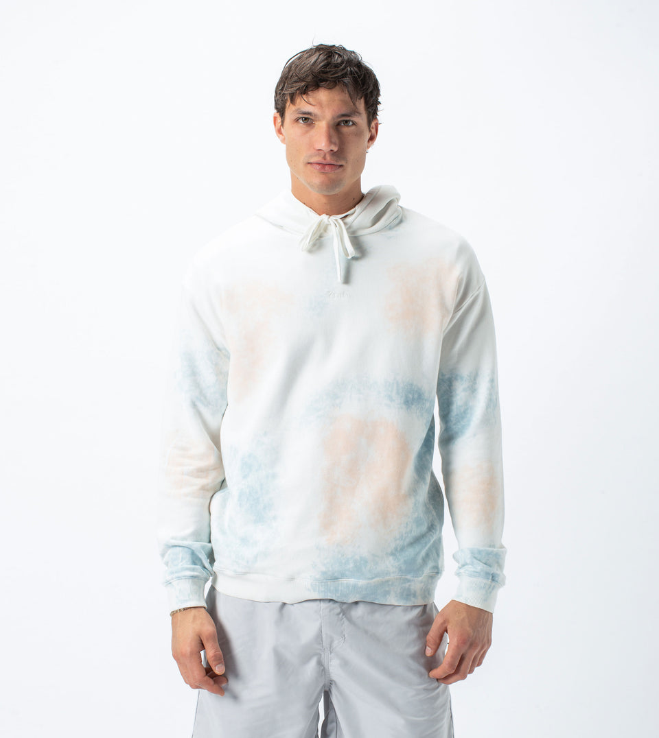 Sherbert Rugger Hood Sweat Milk/Ocean