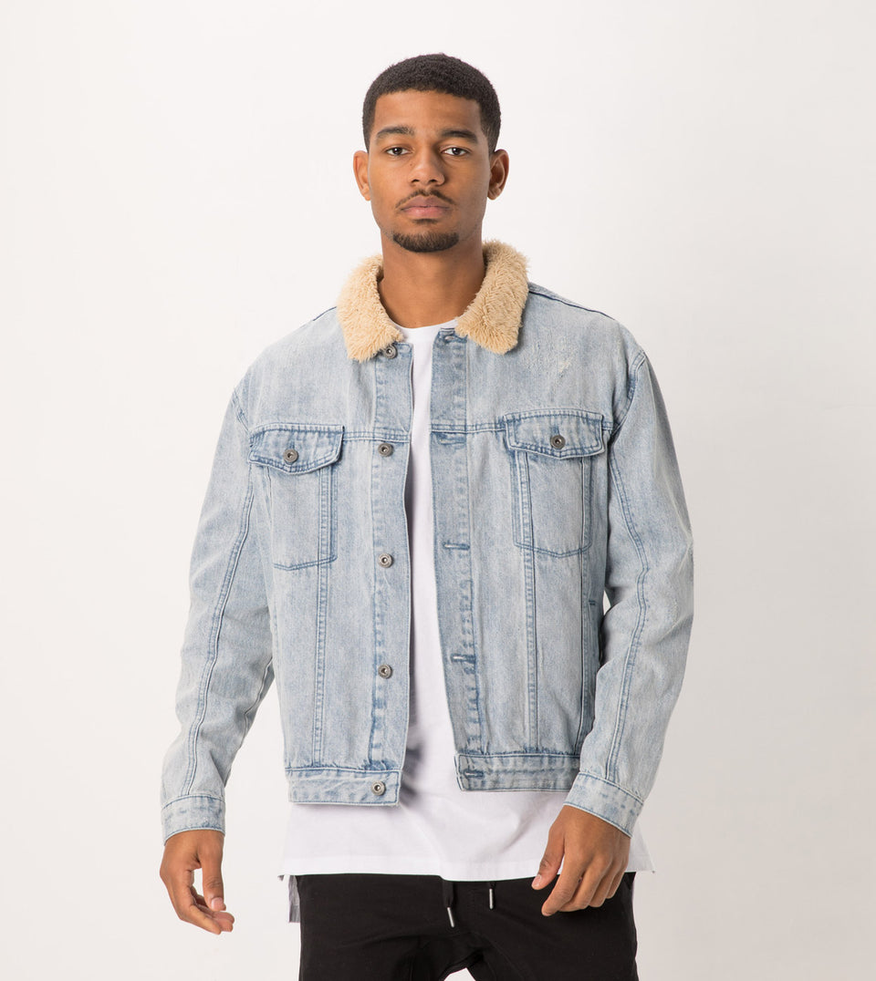 Sherpa Denim Jacket Arctic Wash