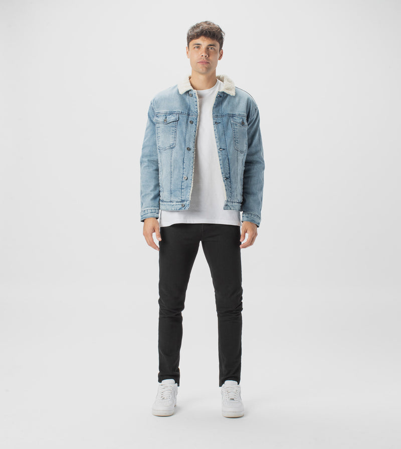 Sherpa Denim Jacket Mineral Blue
