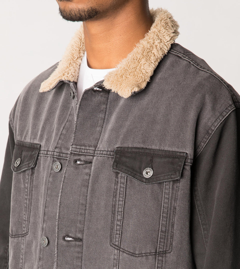 Sherpa Denim Jacket Milled Black