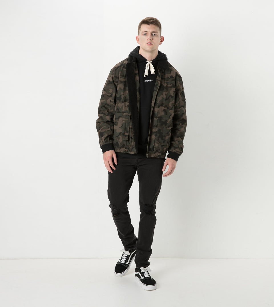 Sherpa Jacket Dark Camo - Sale