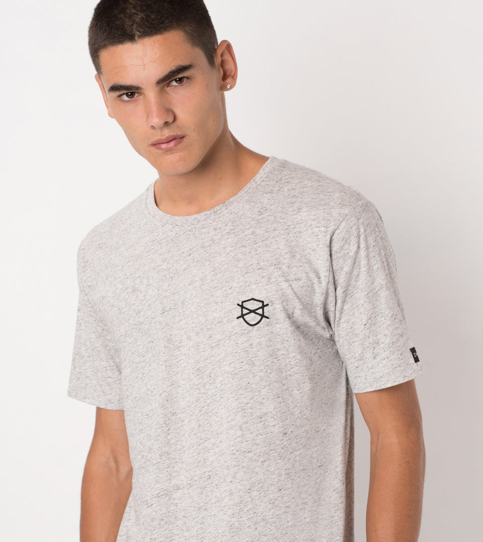 Shield Flintlock Tee Storm Marle